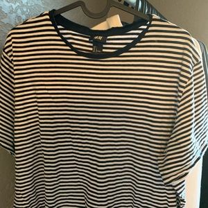 Black and White Stripped Shirt / H&M